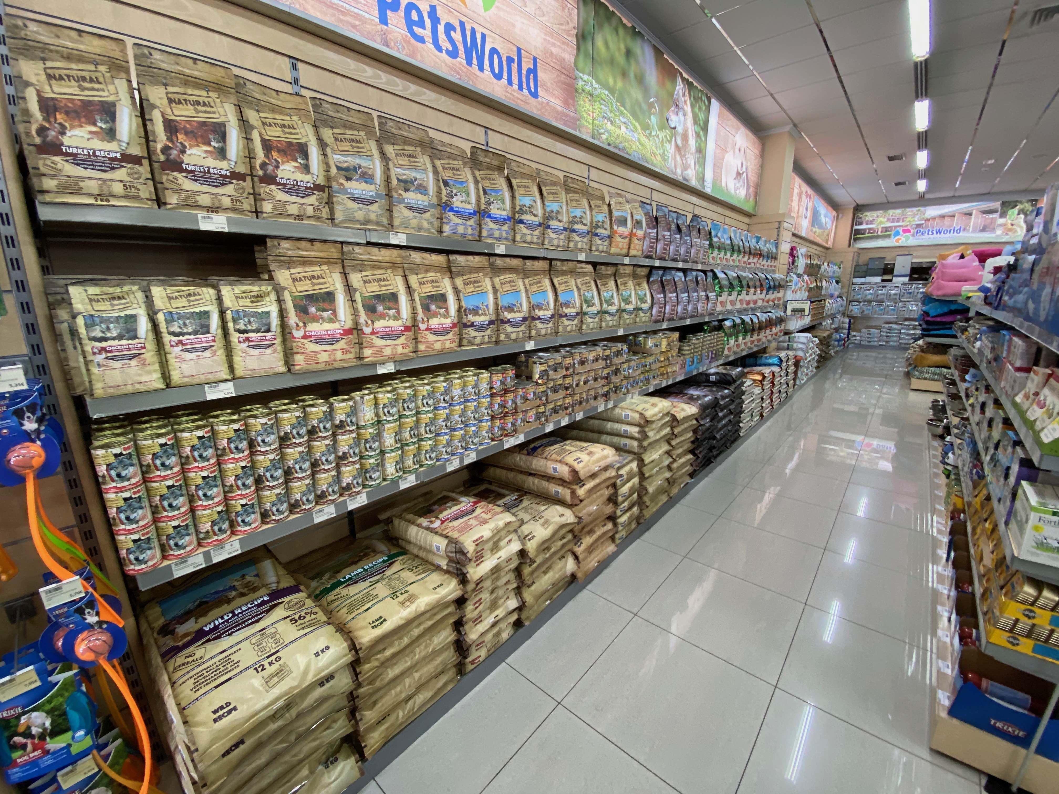 Tienda Petsworld interior